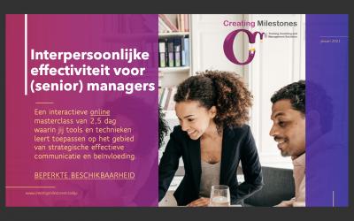 Online Masterclass (Dutch) Interpersonal Effectiveness for (senior) managers