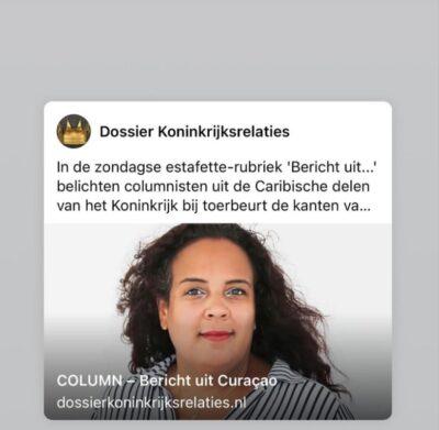 Column on Dossier Koninkrijksrelaties.nl