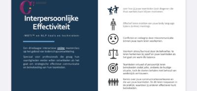 Online Masterclass (Dutch) Interpersonal Effectiveness