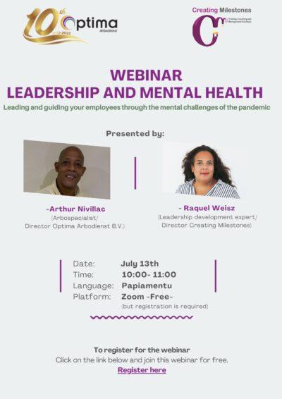 Free webinar Leadership and mental health (Papiamentu)